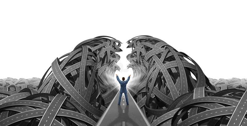 Dirección y visión ilustración del vector