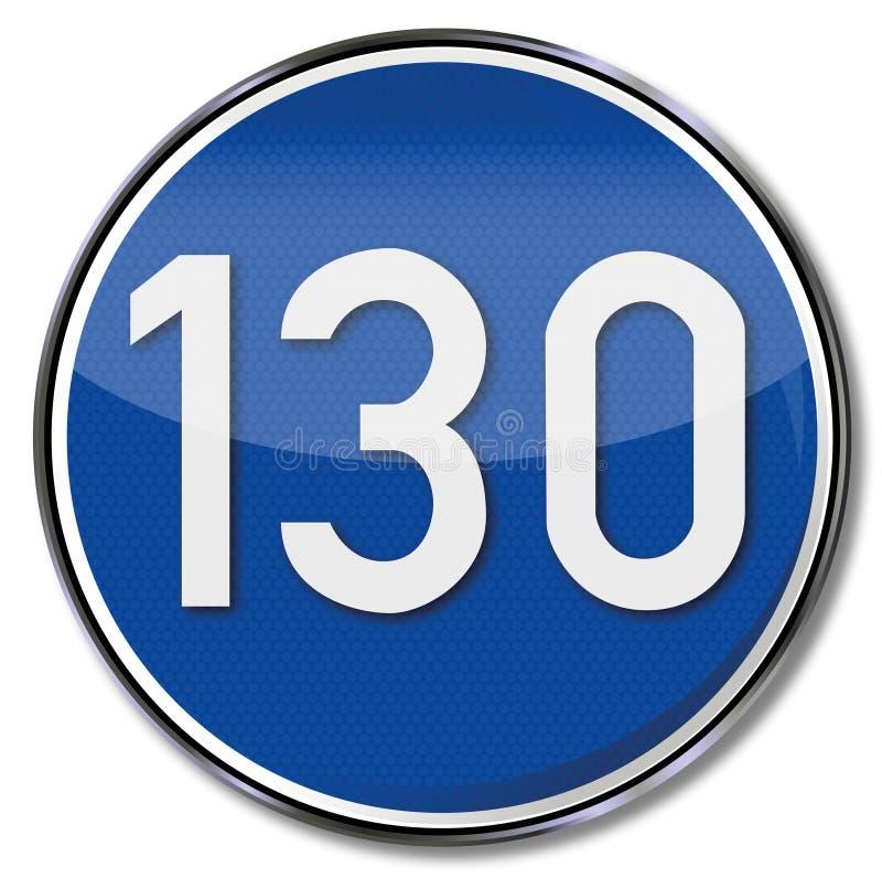 Direccional de kmh de la velocidad 130 stock de ilustración