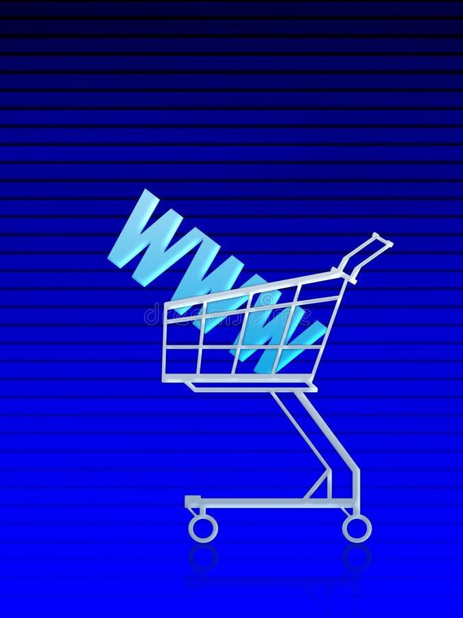 Direccionamiento del dominio/compra del Internet ilustración del vector