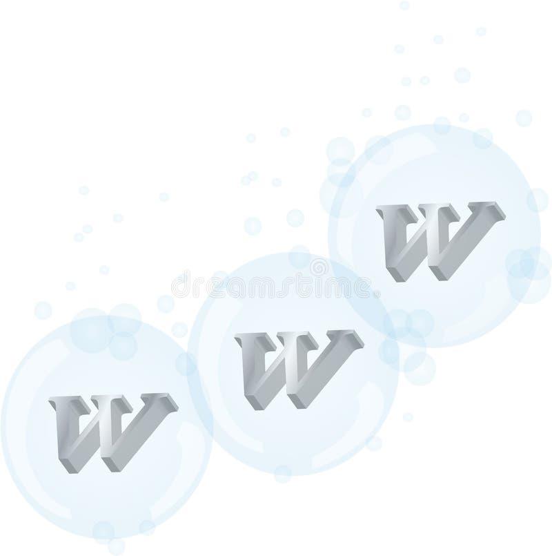 Direccionamiento WWW stock de ilustración