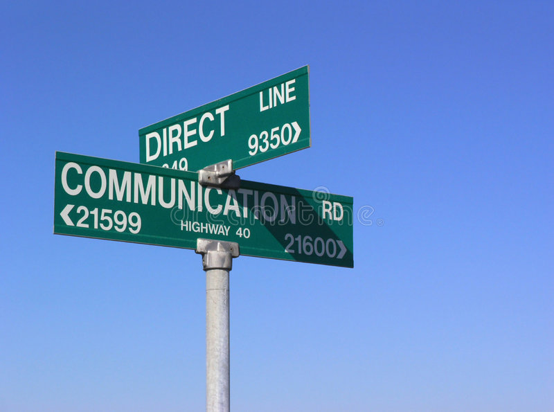 Direct communication stock image
