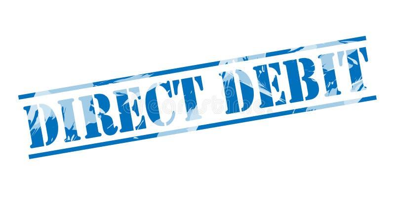 Direct debit blue stamp vector illustration