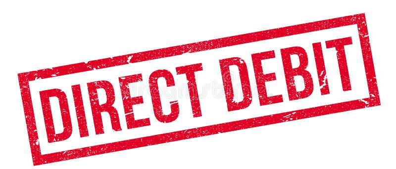 Direct Debit rubber stamp royalty free illustration
