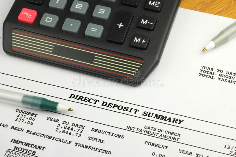 Download Direct Deposit Summary stock photo. Image of confirmation - 19169870