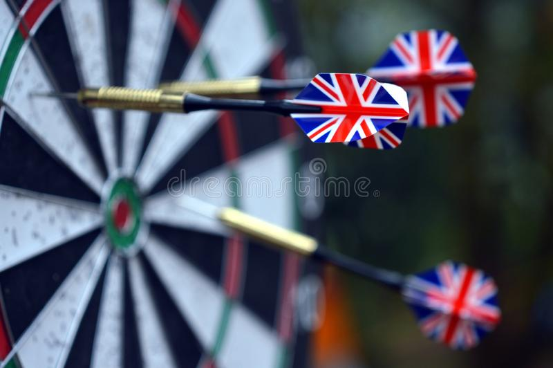 Direct hit with dart object royalty free stock image