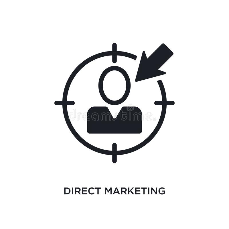 direct-marketing geïsoleerd pictogram eenvoudige elementenillustratie van algemeen-1 conceptenpictogrammen direct-marketing edita stock illustratie