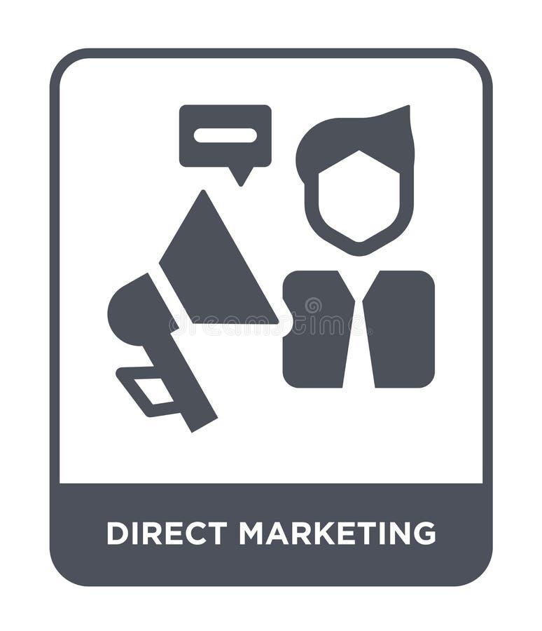 direct-marketing pictogram in in ontwerpstijl direct-marketing pictogram op witte achtergrond wordt geïsoleerd die direct-marketi vector illustratie