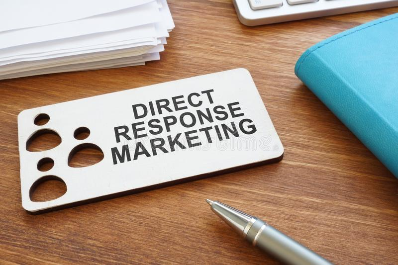 Direct response marketing sign. royalty free stock images