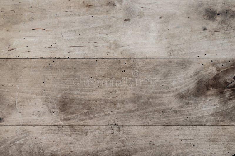 Directement au-dessus du tir du fond en bois rustique de table images libres de droits