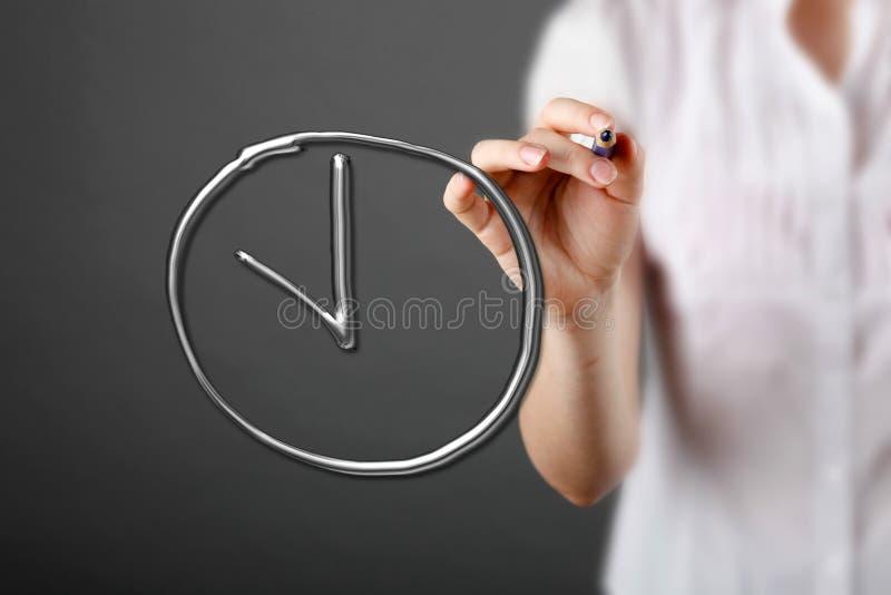 Directeur écrivant une date-butoir de mot illustration stock