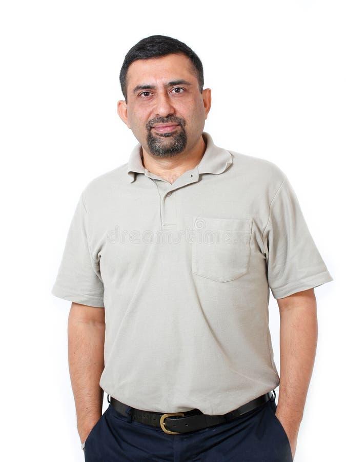 Directeur élégant asiatique/indien confiant et heureux photos libres de droits