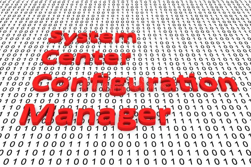 Directeur central de configuration de système illustration stock