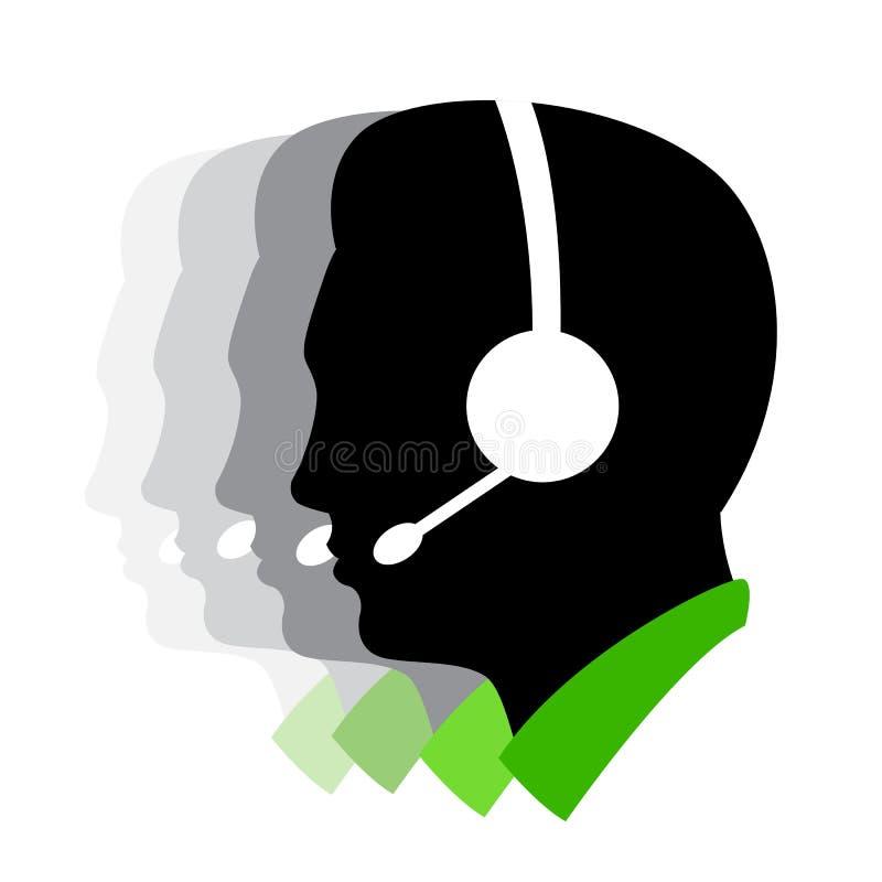 Directeur de centre d'attention téléphonique illustration stock