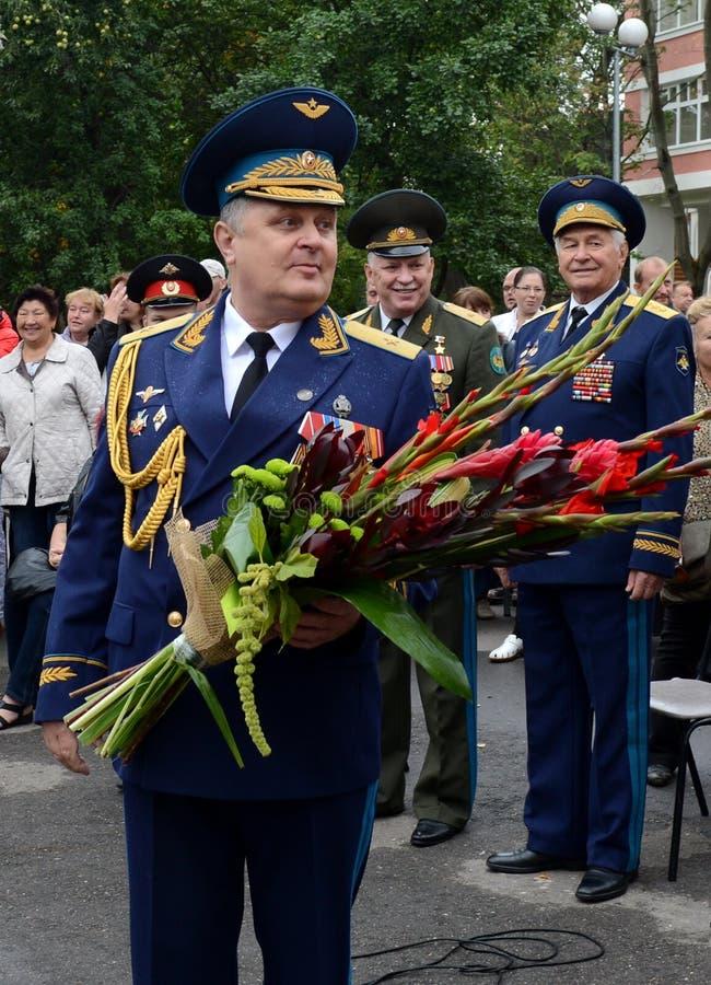 Directeur de la première école militaire de Moscou, le Général principal Vladimir Krymsky image libre de droits