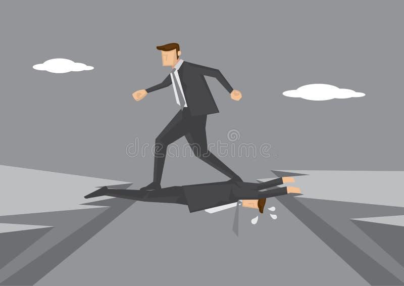 Directeur die op Collega stappen vector illustratie
