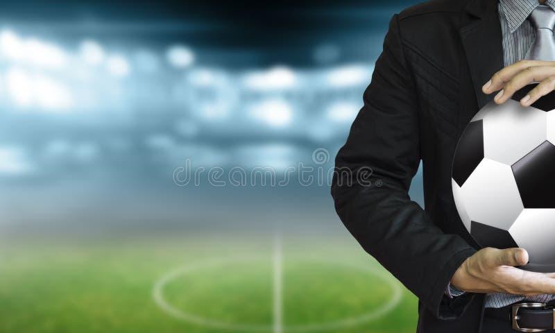Directeur du football dans le stade images libres de droits