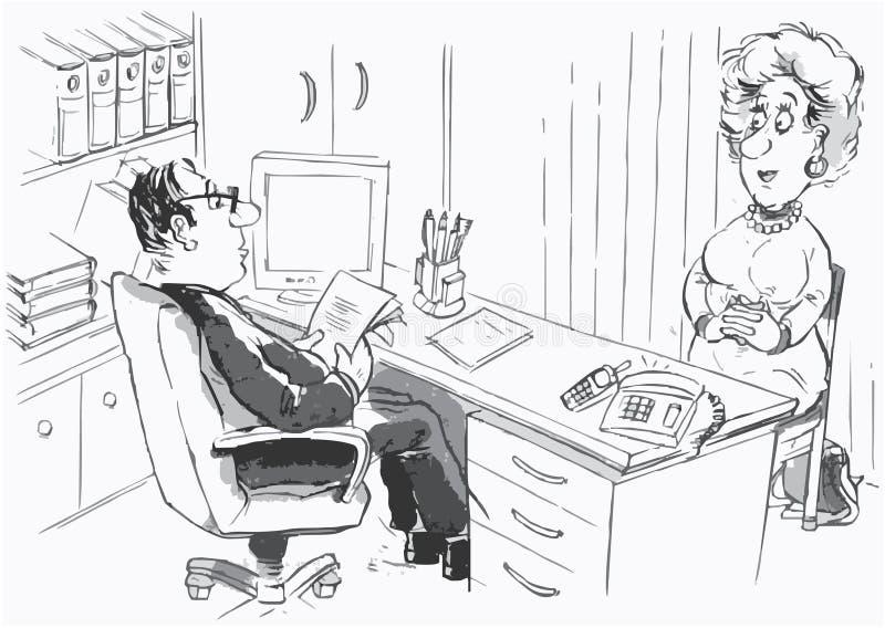 Directeur et demandeur de travail illustration libre de droits