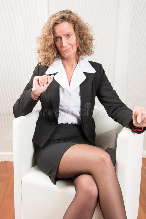 Directeur féminin non convaincu images libres de droits