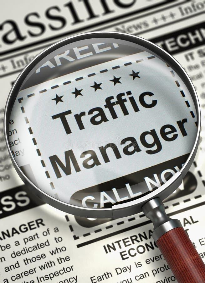 Directeur Job Vacancy du trafic 3d illustration stock
