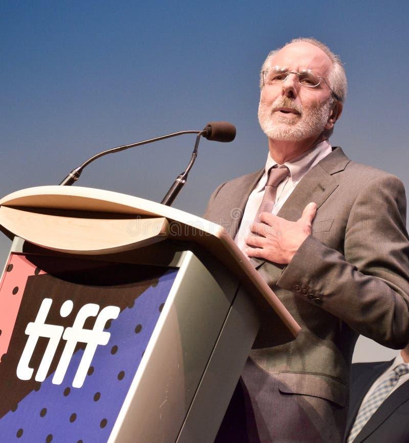 Directeur Jon Avnet ` Drie Christs ` bij internationaal de filmfestival van Toronto royalty-vrije stock afbeelding