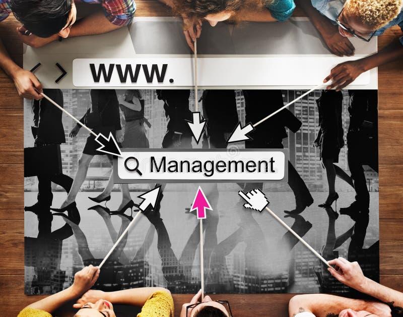 Directeur Managing Organization Concept de gestion images libres de droits