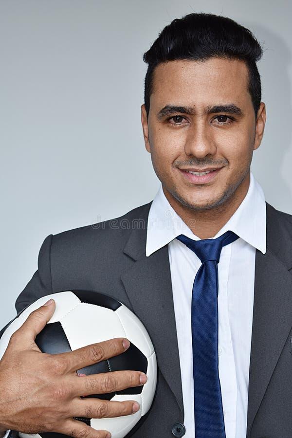 Directeur masculin And Soccer de sports photographie stock libre de droits