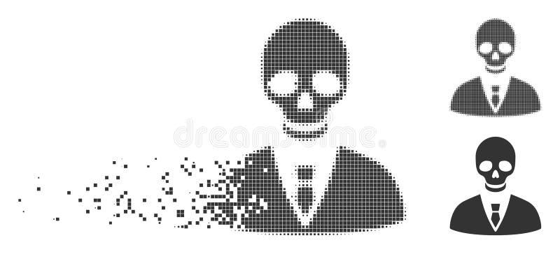 Directeur mortel tramé détruit Icon de pixel illustration stock