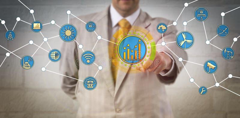 Directeur Optimizing Energy Consumption par l'intermédiaire d'IoT photo stock