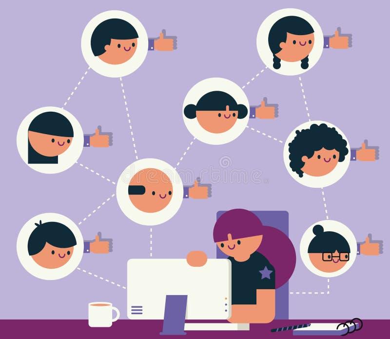 Directeur social de media illustration libre de droits