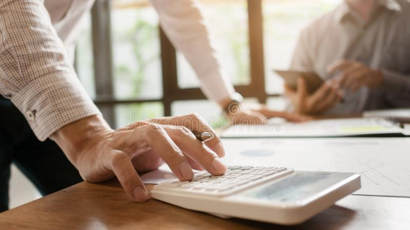 Directeuren Team Meeting Brainstorming Working en marketing Concept stock afbeeldingen