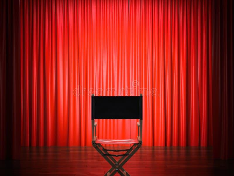 Directeurs` s stoel in het theater het 3d teruggeven vector illustratie