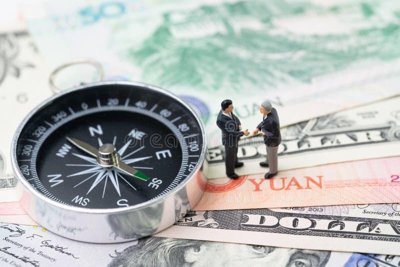 Direction économique de finances des USA et de la Chine, affaire de guerre commerciale, d'importation et d'exportation et concept images stock