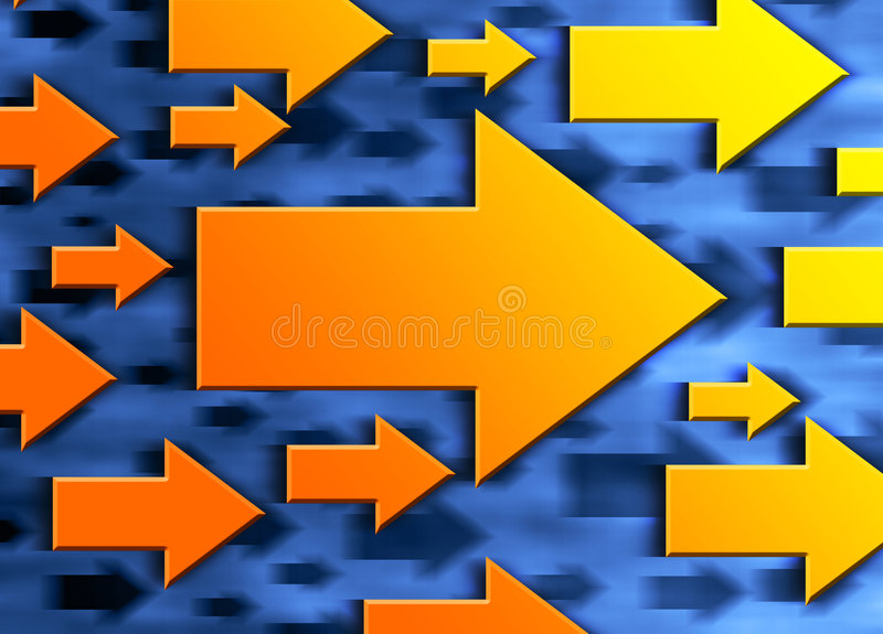 Direction arrows stock illustration