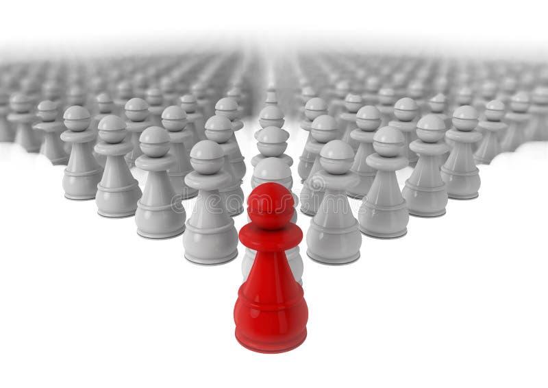 Direction d'affaires et concept d'avantage concurrentiel illustration de vecteur