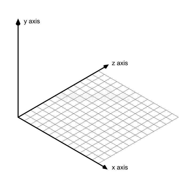 Direction de vecteur de x/y et de z d'axe illustration de vecteur