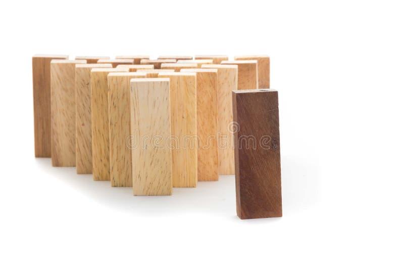 Direction et concept abstrait d'affaires d'équipe, bloc en bois sur W photos libres de droits