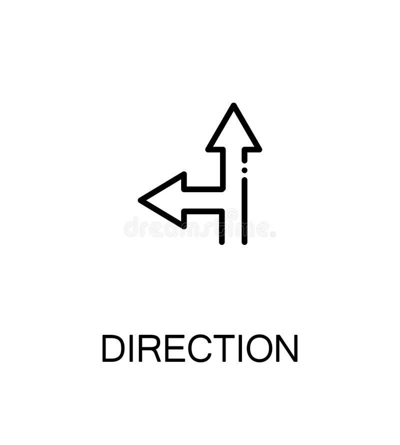 Direction flat icon royalty free illustration