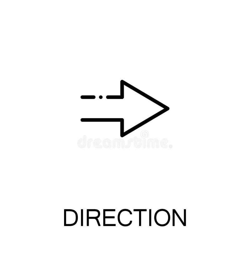 Direction flat icon. Direction icon. Single high quality outline symbol for web design or mobile app. Thin line sign for design logo. Black outline pictogram on royalty free illustration