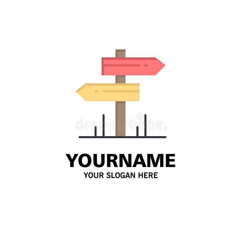 Direction, hôtel, motel, affaires Logo Template de pièce couleur plate illustration libre de droits