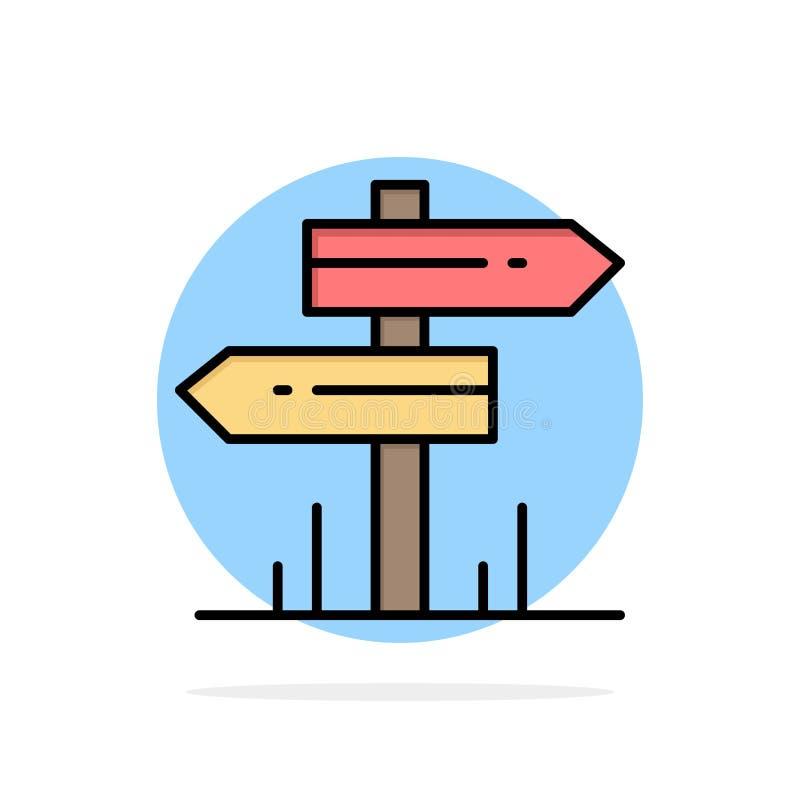 Direction, hôtel, motel, icône plate de couleur de fond abstrait de cercle de pièce illustration libre de droits