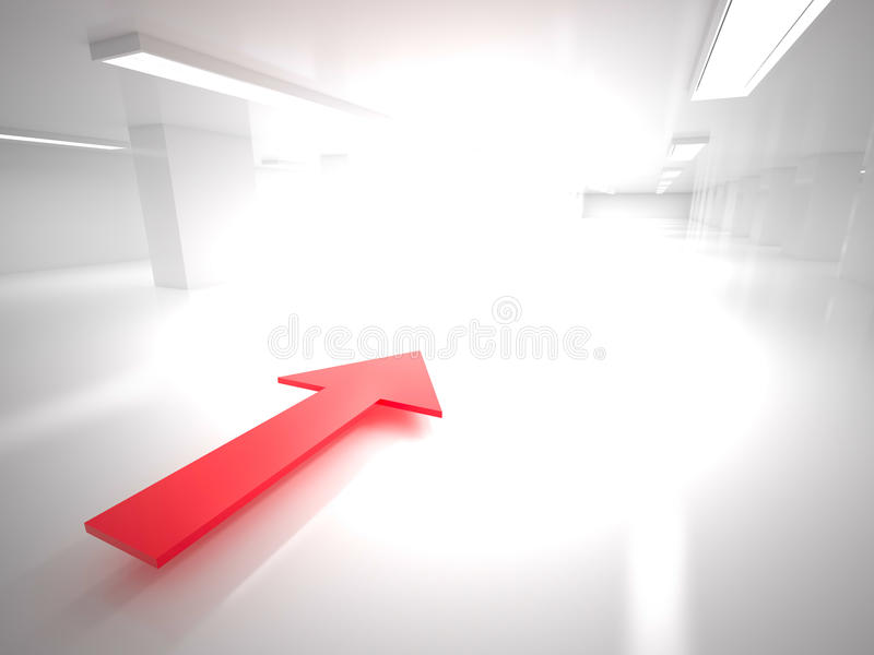 Direction of movement, 3D vector illustration