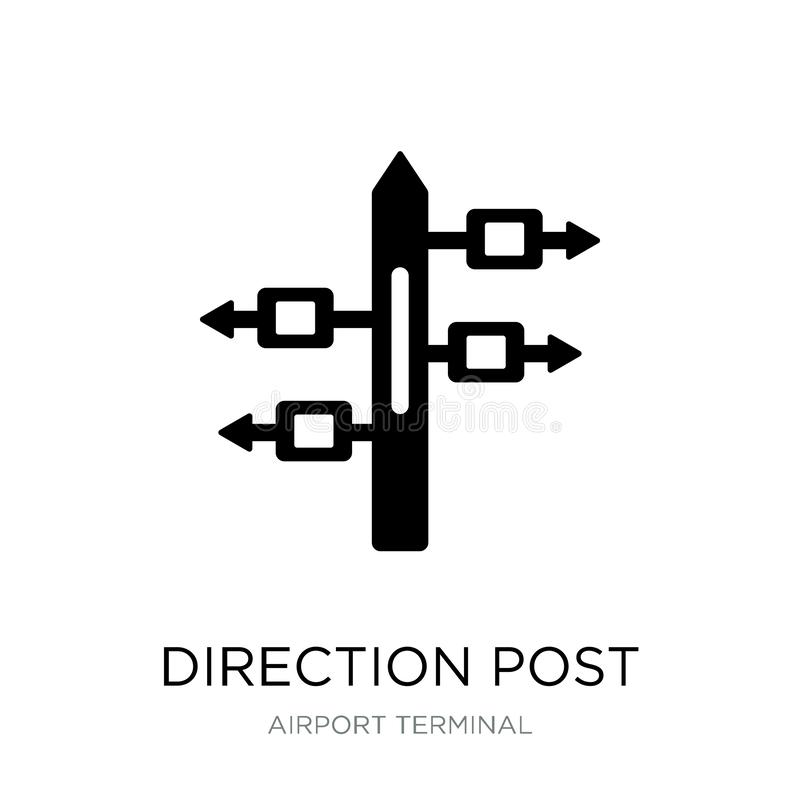 direction post icon in trendy design style. direction post icon isolated on white background. direction post vector icon simple vector illustration