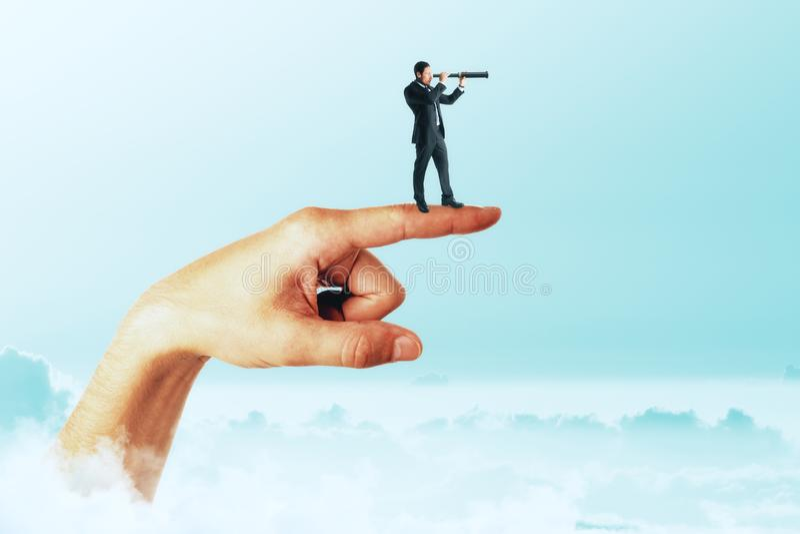 Direction, recherche et concept d'ambition photographie stock