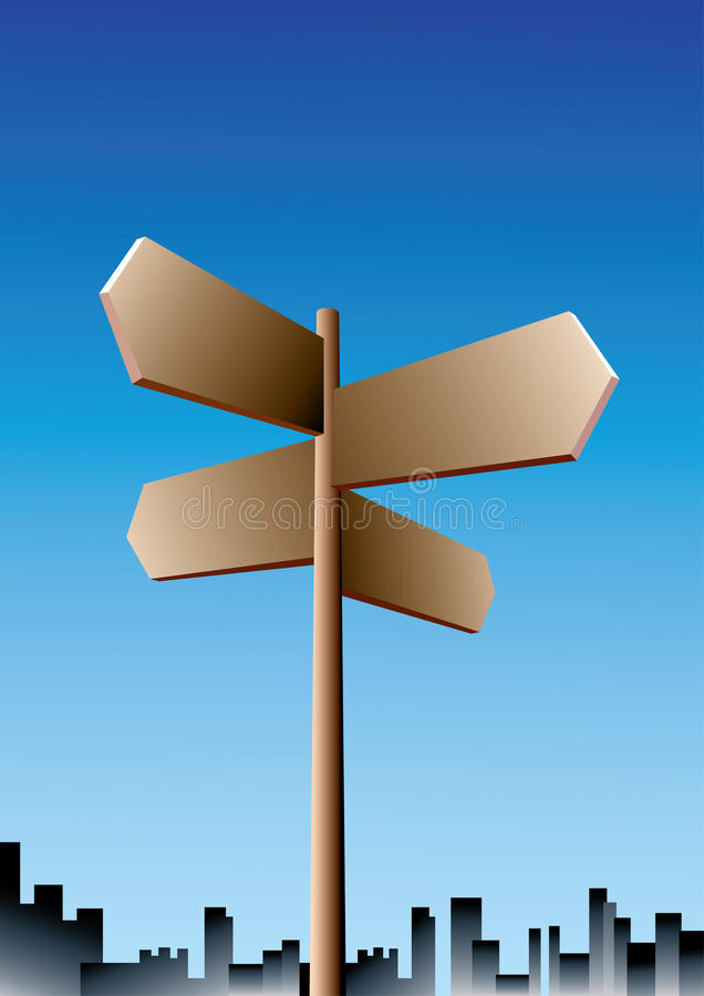 Direction sign stock illustration