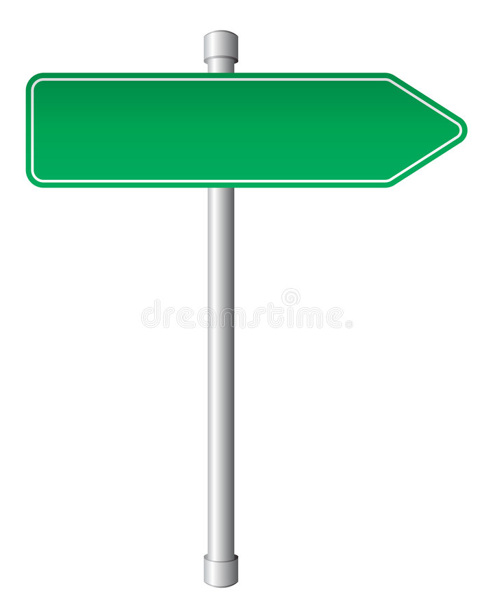 Direction sign stock illustration