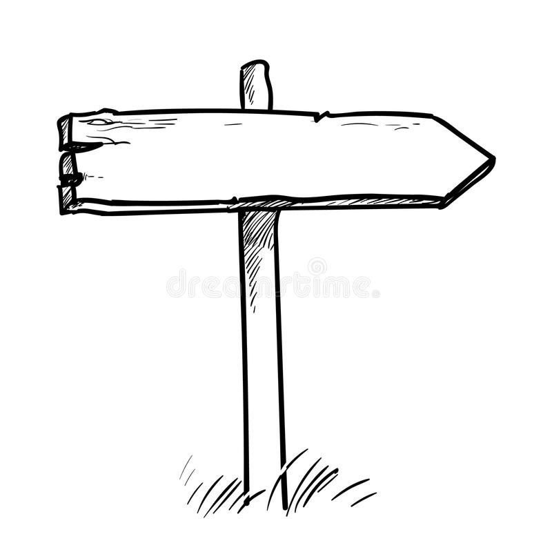 Direction sign royalty free illustration