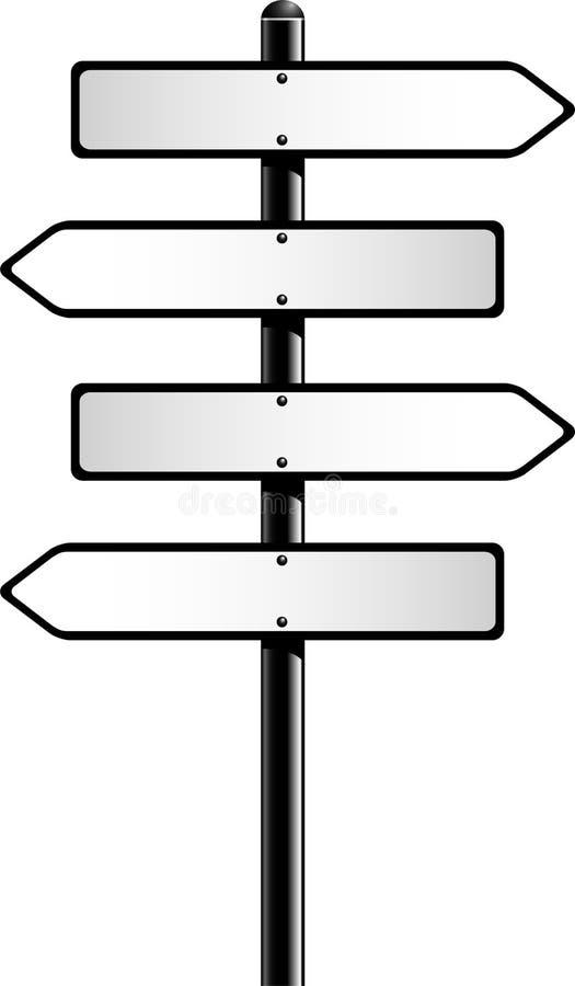 Direction Signs. Over white. EPS 10 stock illustration