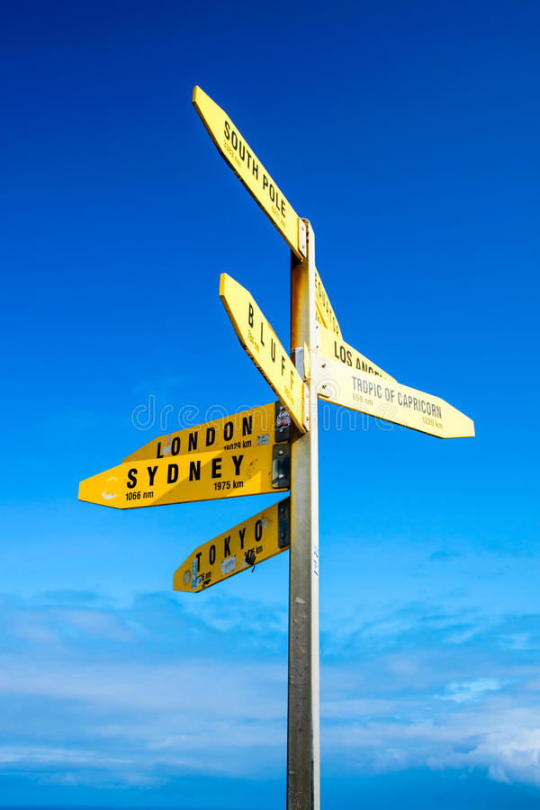 Direction to the world royalty free stock image