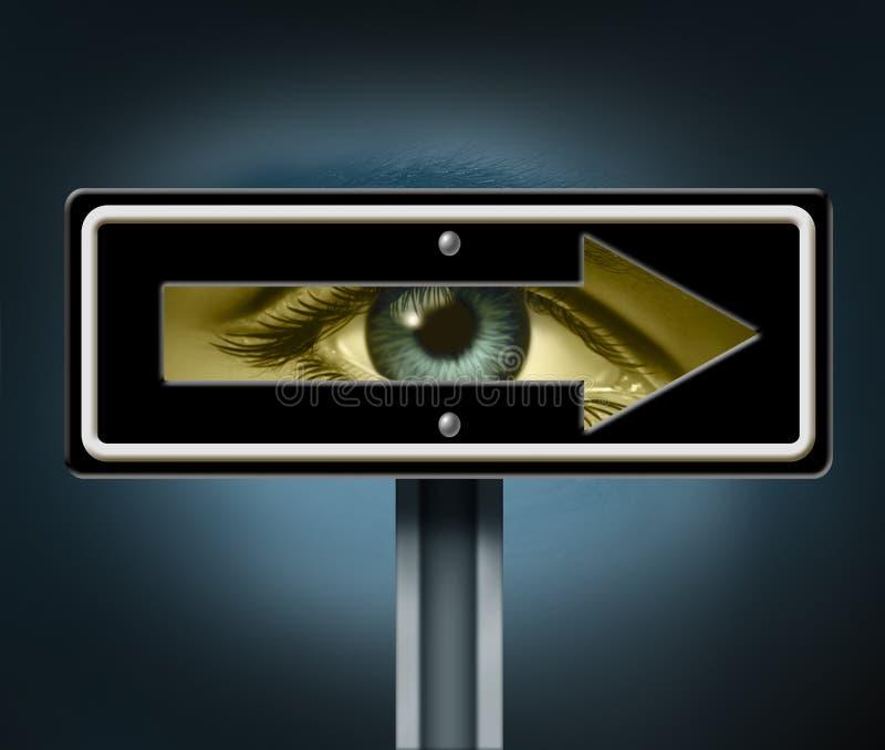 Direction visionnaire illustration de vecteur