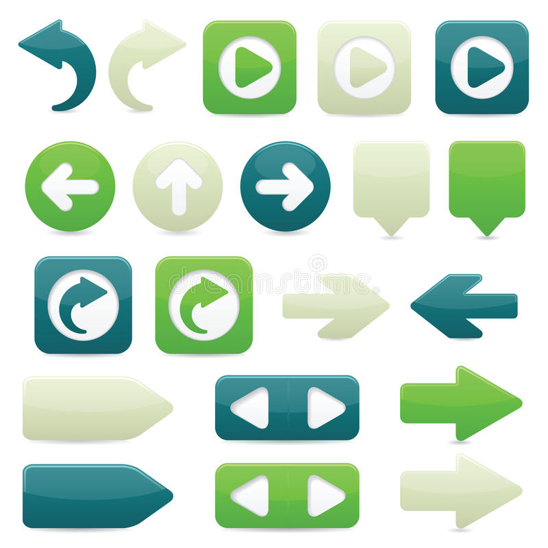 Directional Arrow Icons royalty free illustration